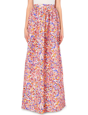 ROKSANDA ILINCIC Printed silk-blend skirt