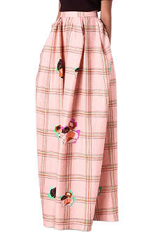 ROKSANDA ILINCIC Pleated print maxi skirt