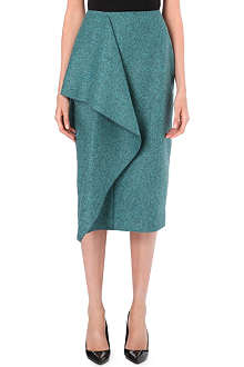 ROKSANDA ILINCIC Merle draped wool skirt