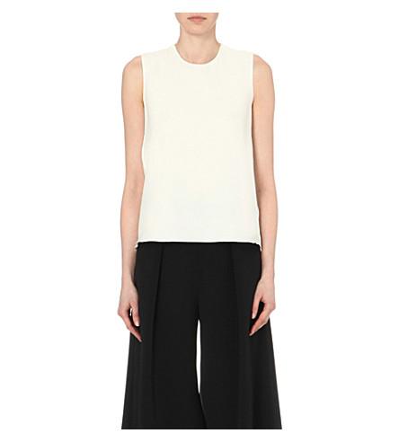 ROKSANDA Fuji sleeveless silk top (White