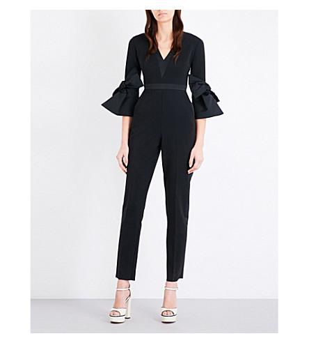 ROKSANDA Bell-sleeve crepe jumpsuit (Black