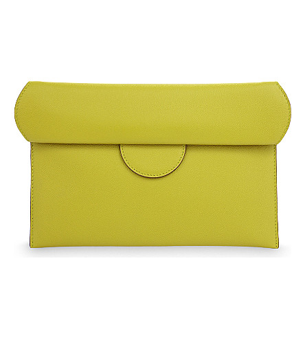 ROKSANDA Leather pouch (Chartreuse/burgundy