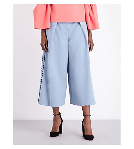 ROKSANDA Stretch-crepe culottes (Dusty+blue