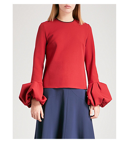 ROKSANDA Arlo crepe top (Cherry