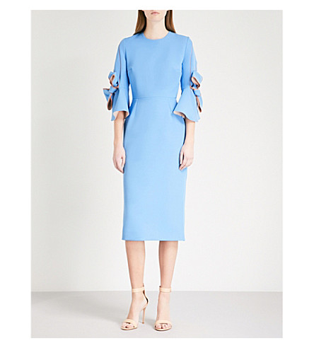 ROKSANDA Lavete tie-sleeve crepe dress (Agapanthus