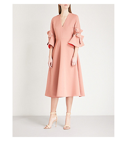 ROKSANDA Sibella tied-cuff crepe dress (Putty