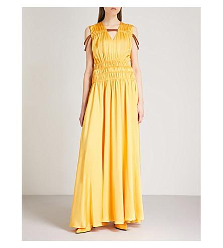 ROKSANDA Brona crepe silk-satin gown (Gold