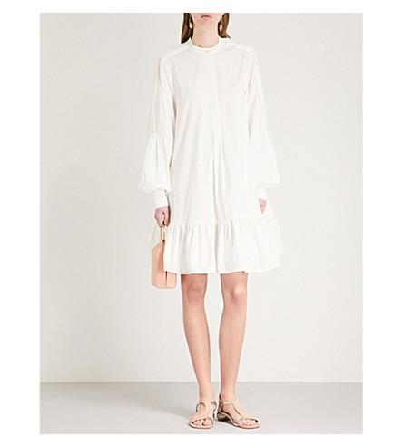 ROKSANDA Aviana puffed-sleeve cotton-poplin dress (Ivory