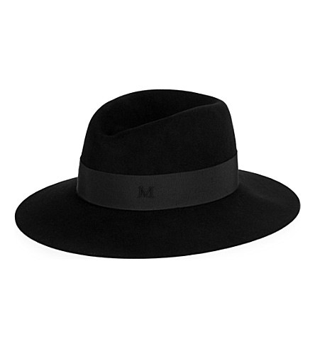 MAISON MICHEL Virginie rabbit-felt fedora (Black