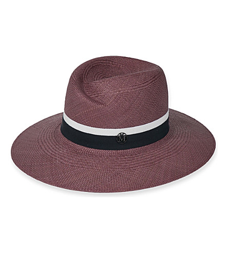 MAISON MICHEL Virginie Panama straw hat (Antic+pink