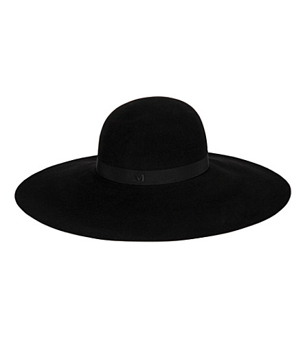 MAISON MICHEL Blanche wide brim rabbit-felt hat (Black