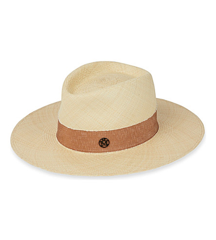 MAISON MICHEL Charles cuenca Panama straw hat (Natural/beige
