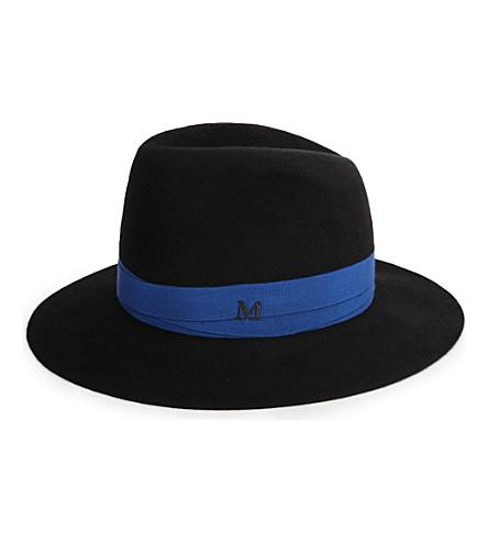 MAISON MICHEL Bettina bandage rabbit felt hat (Black