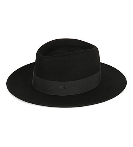 MAISON MICHEL Thadee felt trilby hat (Black