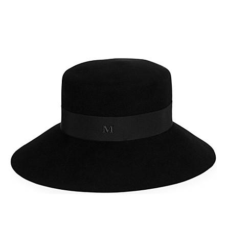 MAISON MICHEL Kendall felt hat (Black