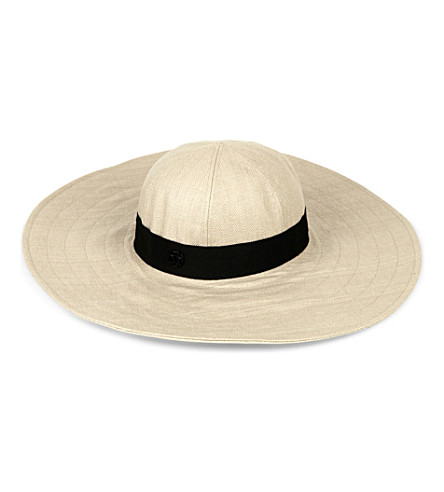MAISON MICHEL Lucia straw hat (Natural+/+black
