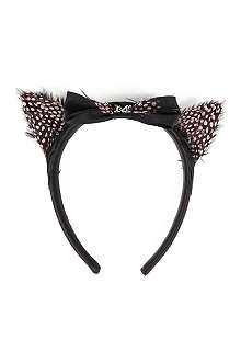 MAISON MICHEL Feather cat ears headband