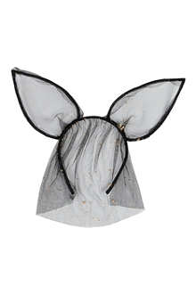 MAISON MICHEL Heidi rabbit ears headband with veil