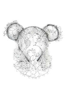 MAISON MICHEL Heidi bear ears headband with veil