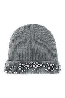 MAISON MICHEL Beaded beanie hat