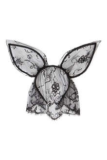 MAISON MICHEL Heidi rabbit ears and veil headband