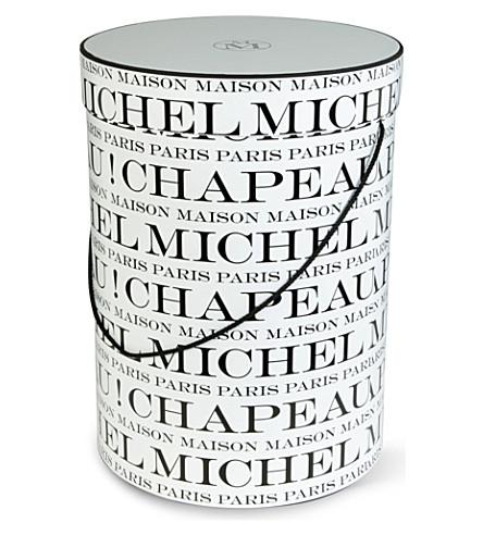 MAISON MICHEL Large Chapeau hat box (White