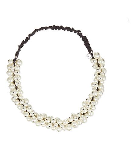 MAISON MICHEL Pearl headband (White