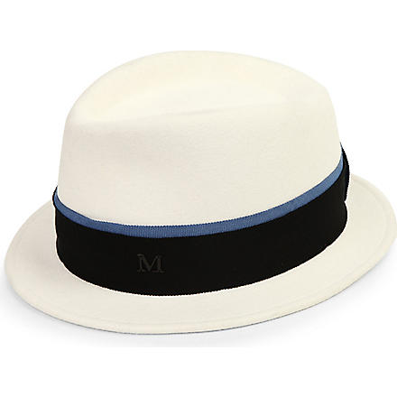 MAISON MICHEL Sean felt trilby hat (White