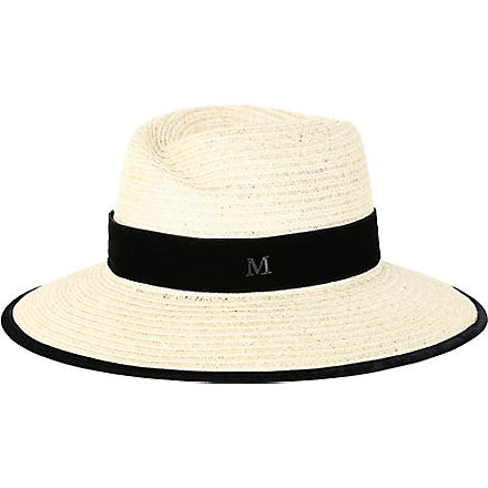MAISON MICHEL Virginie straw hat (Natural / black