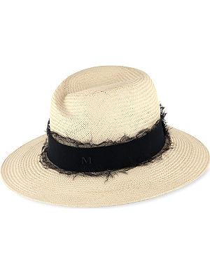 MAISON MICHEL Virginie wide-brimmed straw trilby hat