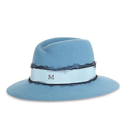 MAISON MICHEL Virginie wide-brimmed felt trilby hat (Ciel