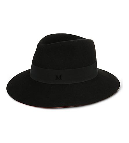 MAISON MICHEL Henriette felt trilby hat (Coral