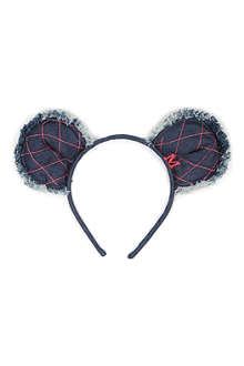 MAISON MICHEL Heidi denim bear headband