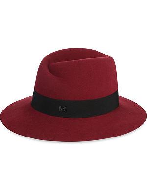 MAISON MICHEL Virginie wide-brimmed felt trilby hat