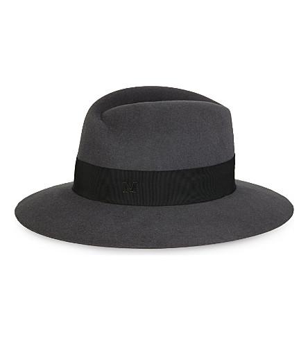 MAISON MICHEL Virginie structured felt hat (Dark grey
