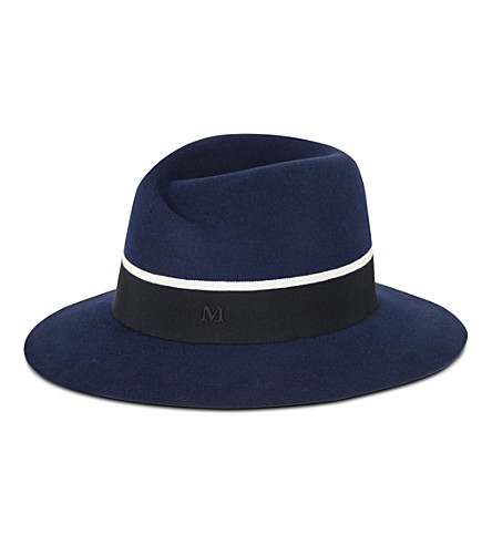 MAISON MICHEL Virginie hat (Blue