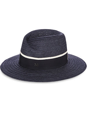 MAISON MICHEL Virginie wide-brimmed straw fedora hat