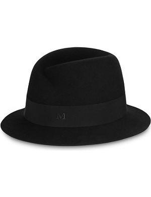 MAISON MICHEL Virginie short-brim trilby hat