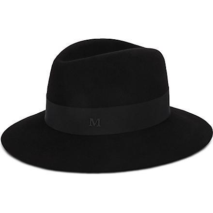 MAISON MICHEL Henrietta wool hat (Black