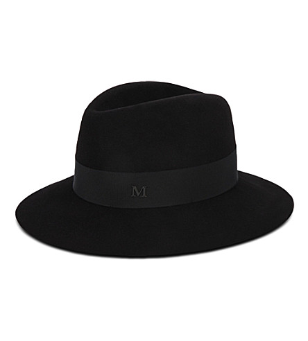 MAISON MICHEL Henrietta wool hat (Black