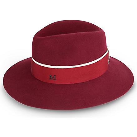 MAISON MICHEL Henrietta hat (Burgandy