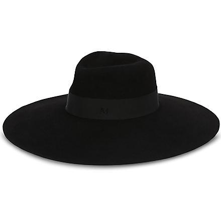MAISON MICHEL Fara wide-brimmed trilby hat (Black