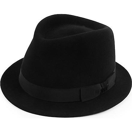 MAISON MICHEL Sean felt trilby hat (Black