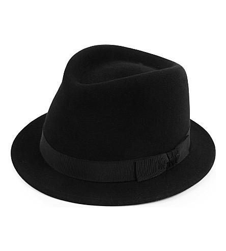 MAISON MICHEL Sean felt trilby hat (Black