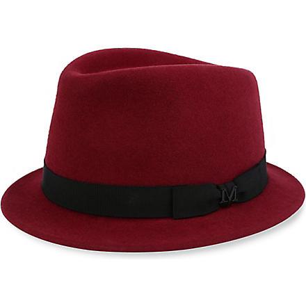MAISON MICHEL Sean felt trilby hat (Burgundy
