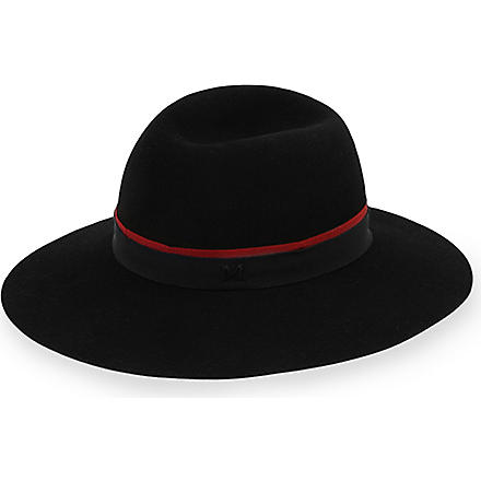 MAISON MICHEL New Alice felt hat (Black / burg & cream