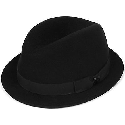 MAISON MICHEL Pete felt trilby hat (Black