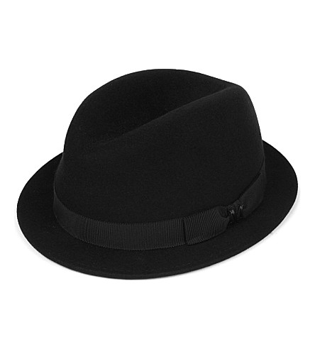 MAISON MICHEL Pete felt trilby hat (Black