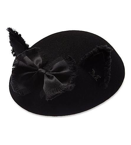 MAISON MICHEL Bibi Yoko felt hat (Black