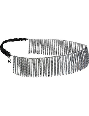 MAISON MICHEL Chain fringe headband